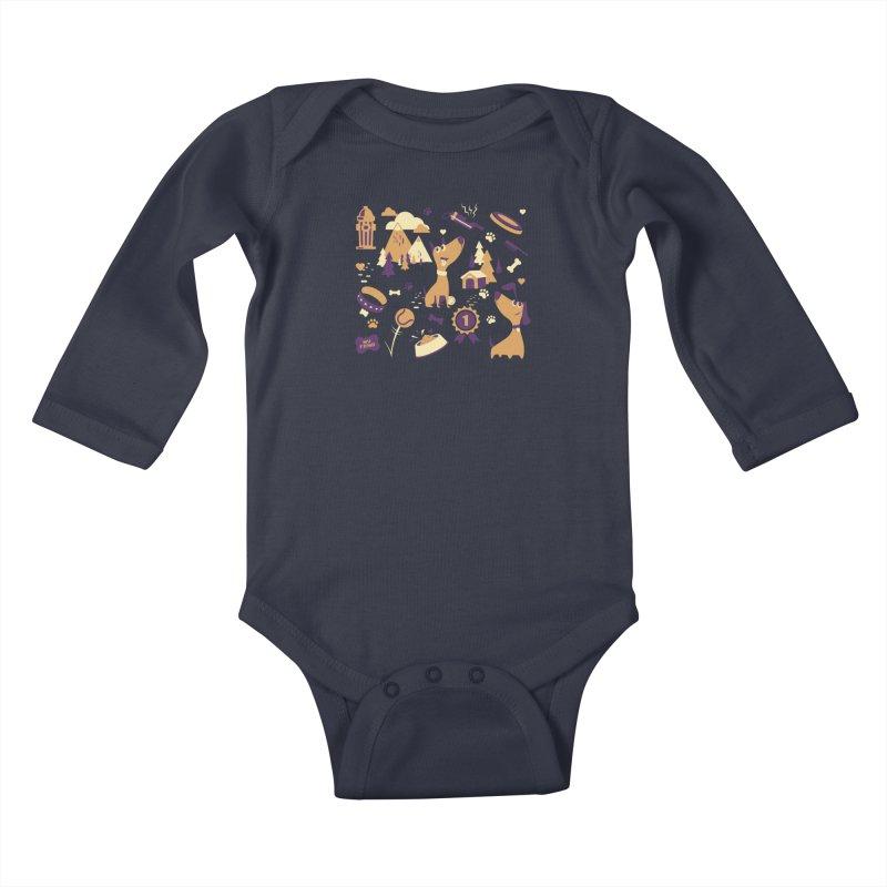 DogLover v2 Kids Baby Longsleeve Bodysuit by Rocket Artist Shop