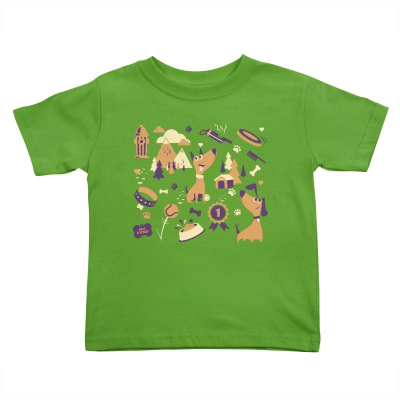 DogLover v2 Kids Toddler T-Shirt by Rocket Artist Shop