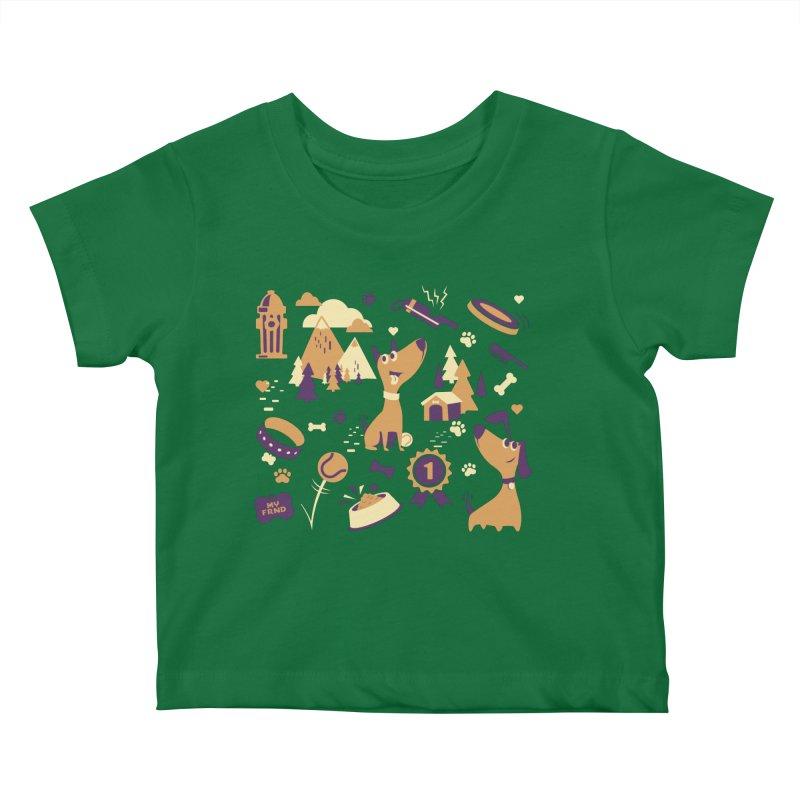 DogLover v2 Kids Baby T-Shirt by Rocket Artist Shop