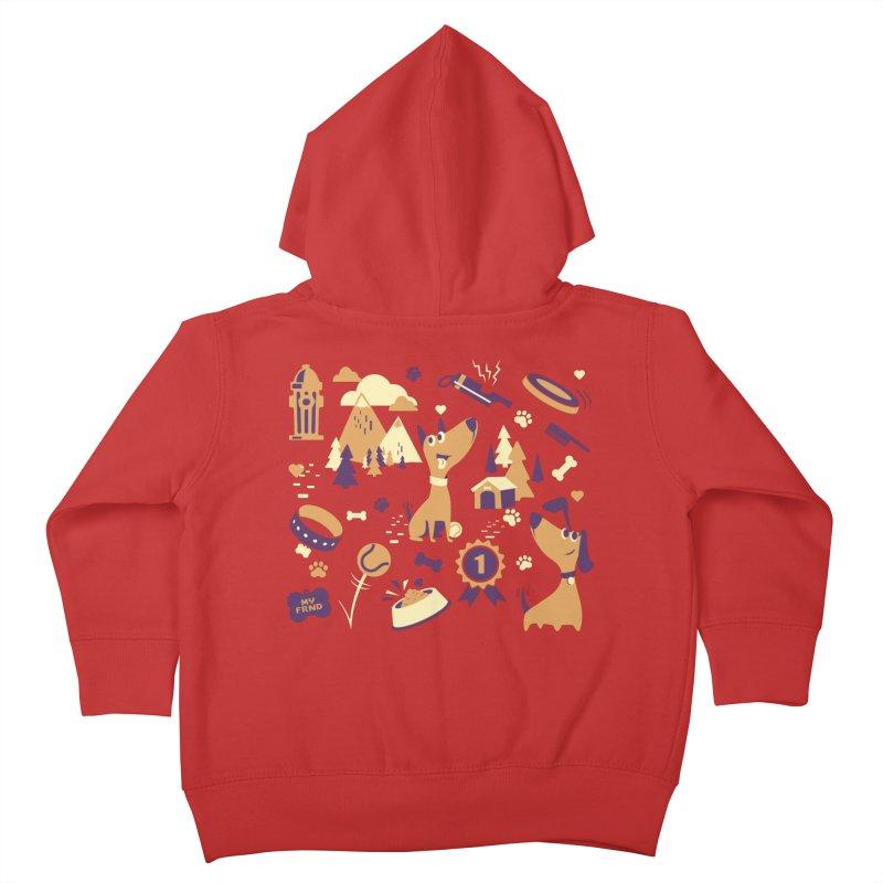 DogLover v2 Kids Toddler Zip-Up Hoody by Rocket Artist Shop