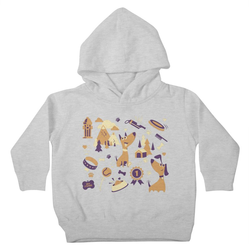 DogLover v2 Kids Toddler Pullover Hoody by Rocket Artist Shop