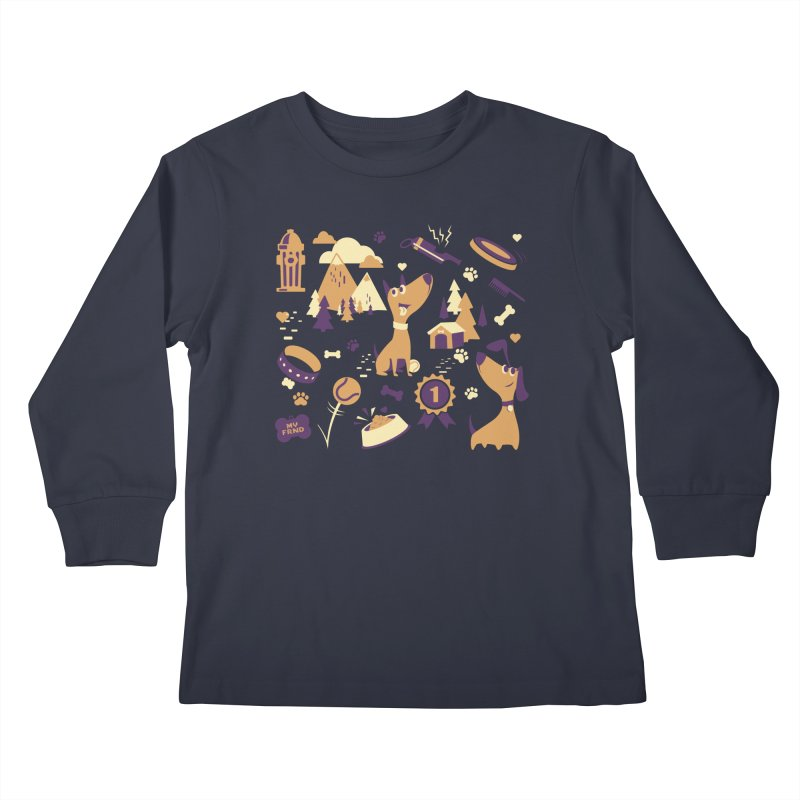 DogLover v2 Kids Longsleeve T-Shirt by Rocket Artist Shop
