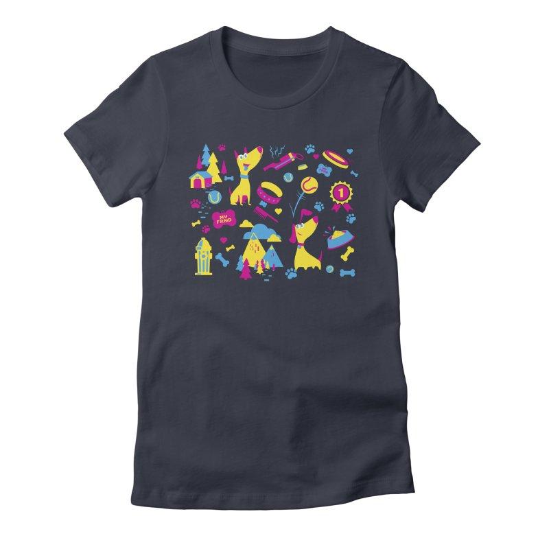 Dog Lover (cmyk) Women's T-Shirt by Rocket Artist Shop
