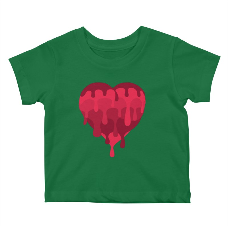 RED MELTED LOVE Kids Baby T-Shirt by Rocket Artist Shop
