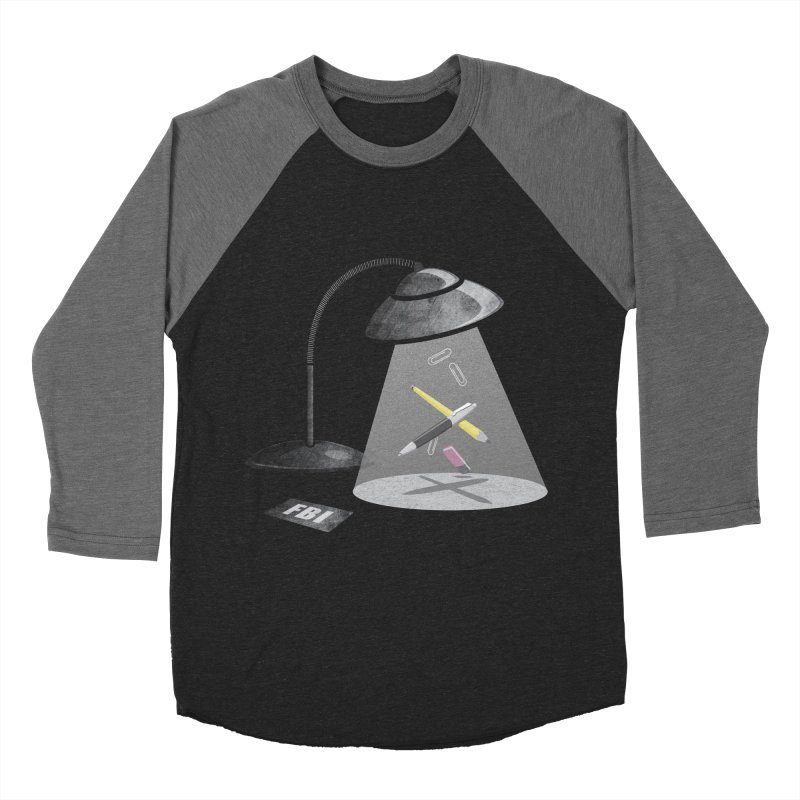 Desktop Abduction Men's Baseball Triblend T-Shirt by Rocket Artist Shop
