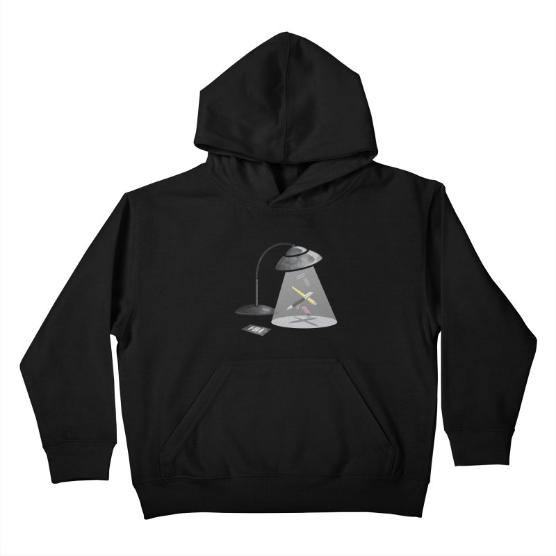 Desktop Abduction Kids Pullover Hoody by Rocket Artist Shop