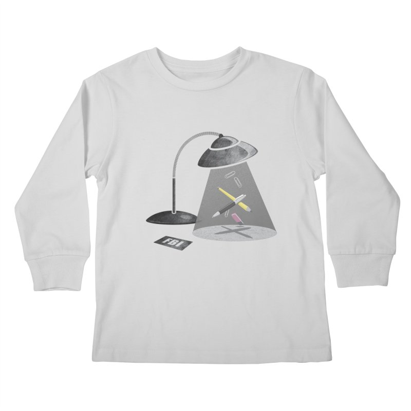 Desktop Abduction Kids Longsleeve T-Shirt by Rocket Artist Shop