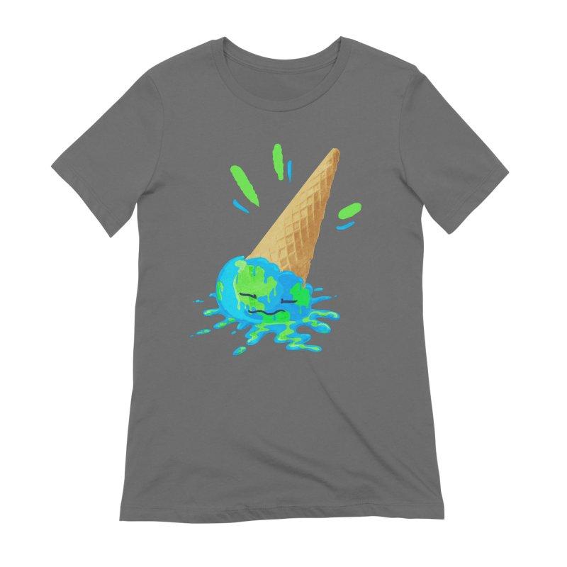 MELTING PLANET Women's T-Shirt by Rocket Artist Shop