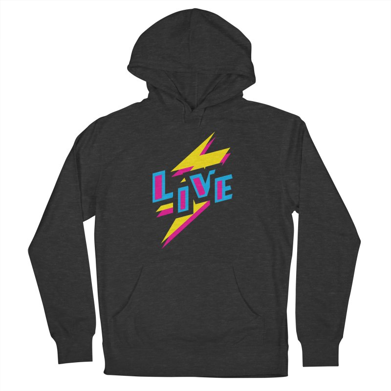 LIVE Women's French Terry Pullover Hoody by Rocket Artist Shop