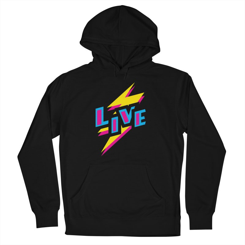 LIVE Men's Pullover Hoody by Rocket Artist Shop