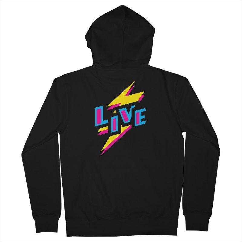 LIVE Men's Zip-Up Hoody by Rocket Artist Shop