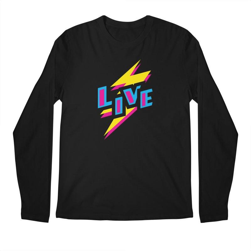 LIVE Men's Longsleeve T-Shirt by Rocket Artist Shop