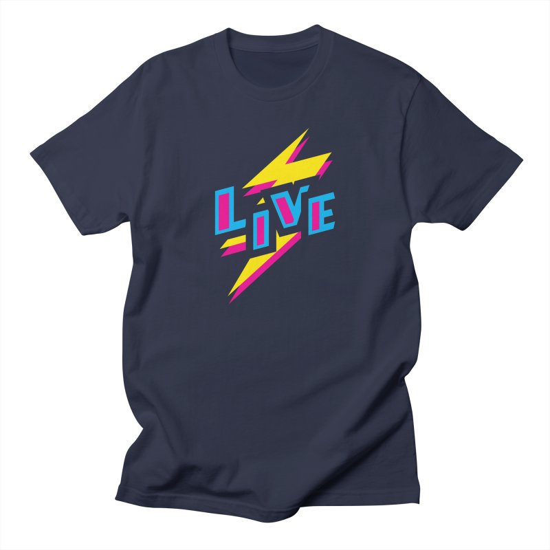 LIVE Men's T-Shirt by Rocket Artist Shop
