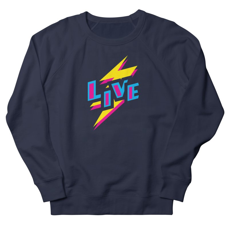 LIVE Men's Sweatshirt by Rocket Artist Shop