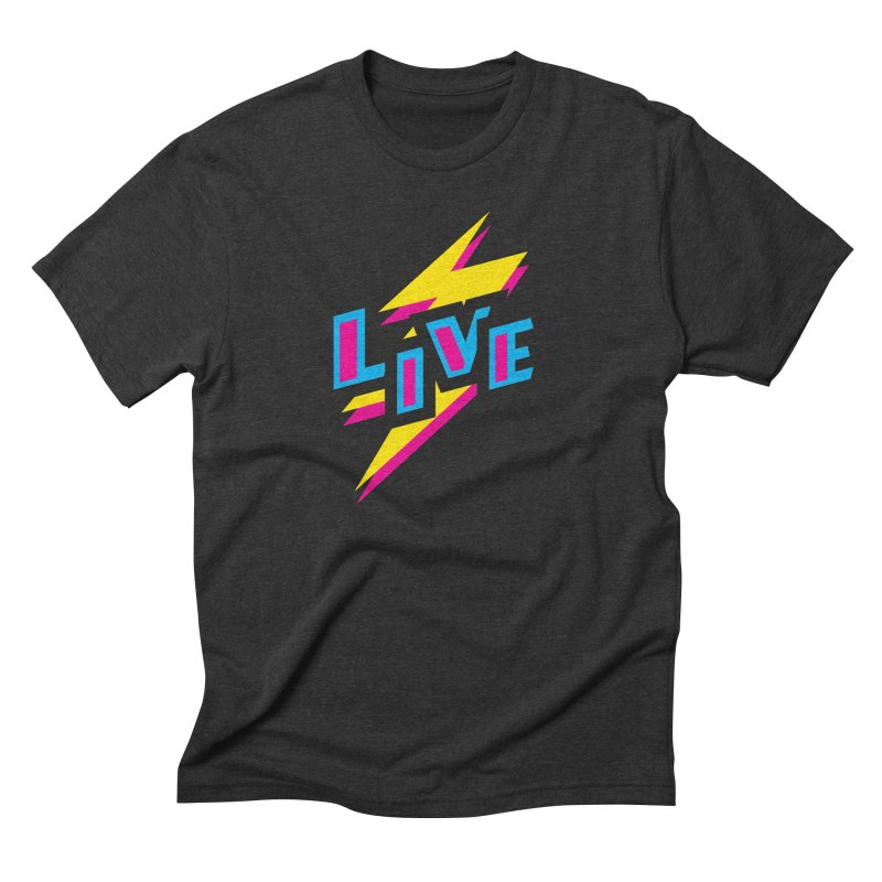 LIVE Men's Triblend T-Shirt by Rocket Artist Shop