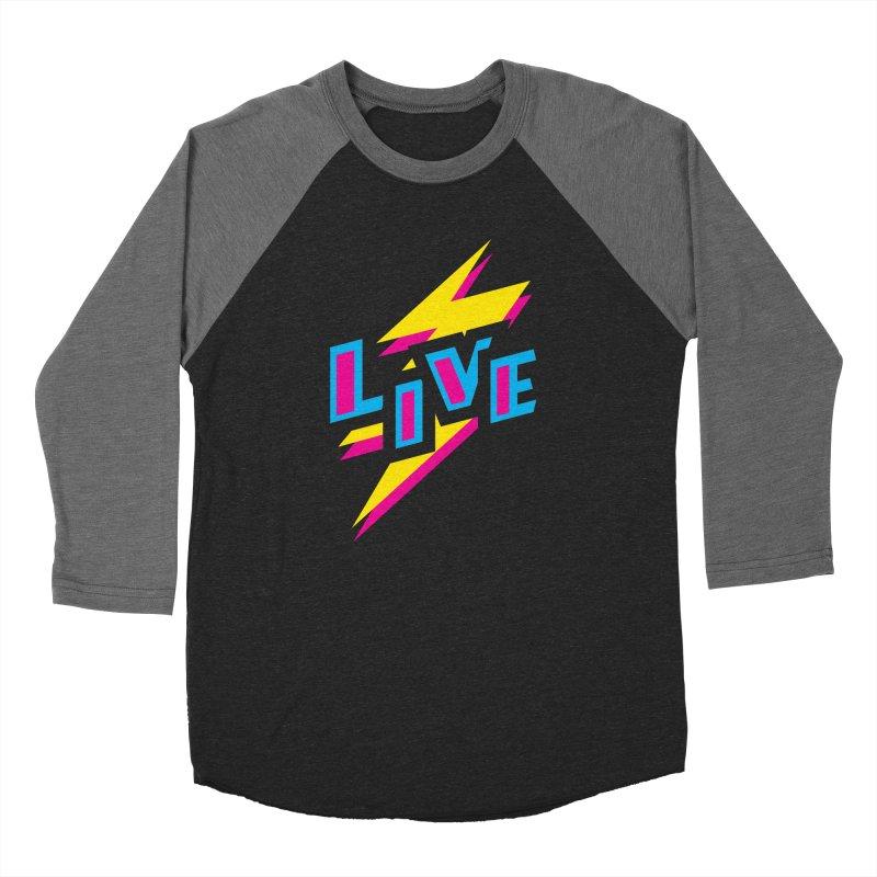 LIVE Women's Baseball Triblend T-Shirt by Rocket Artist Shop