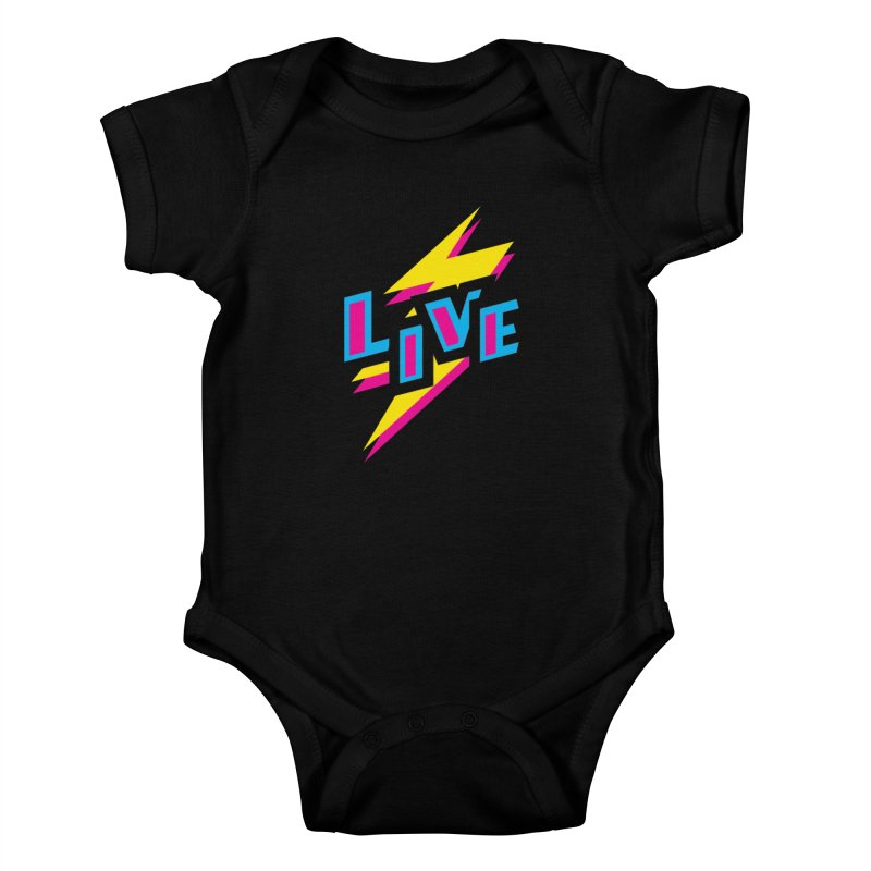 LIVE Kids Baby Bodysuit by Rocket Artist Shop