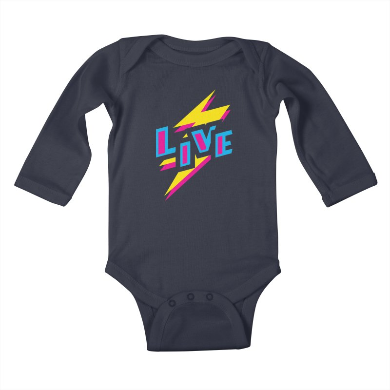 LIVE Kids Baby Longsleeve Bodysuit by Rocket Artist Shop