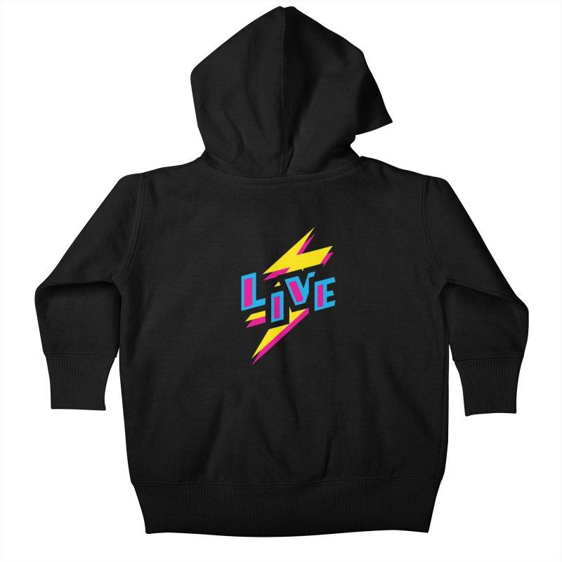LIVE Kids Baby Zip-Up Hoody by Rocket Artist Shop