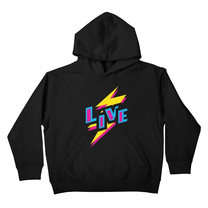 LIVE Kids Pullover Hoody by Rocket Artist Shop
