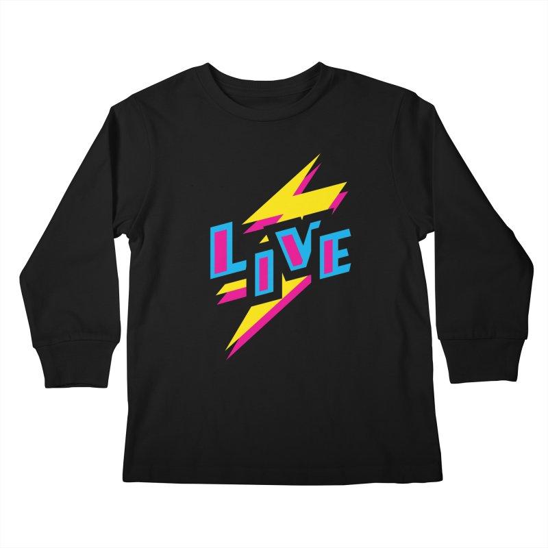 LIVE Kids Longsleeve T-Shirt by Rocket Artist Shop