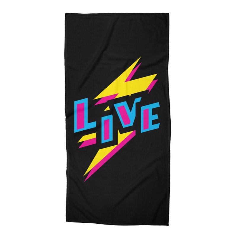 LIVE Accessories Beach Towel by Rocket Artist Shop