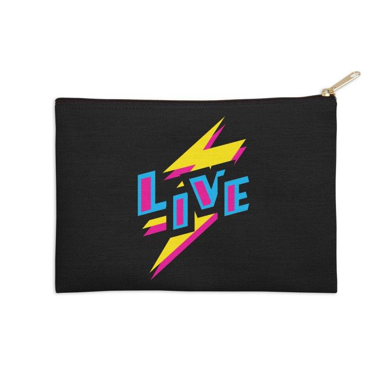 LIVE Accessories Zip Pouch by Rocket Artist Shop