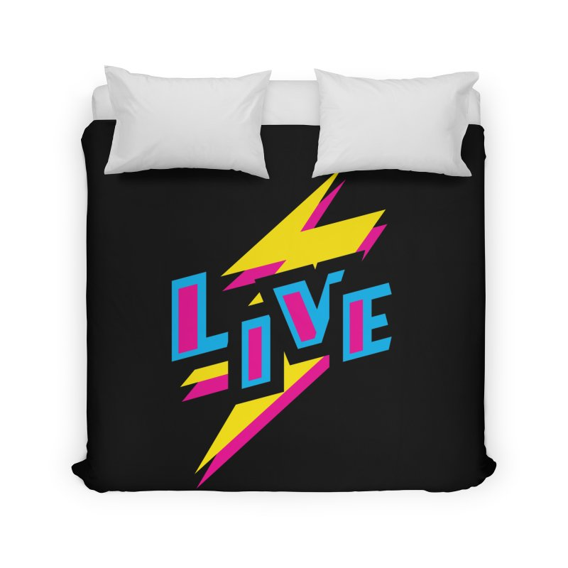 LIVE Home Duvet by Rocket Artist Shop