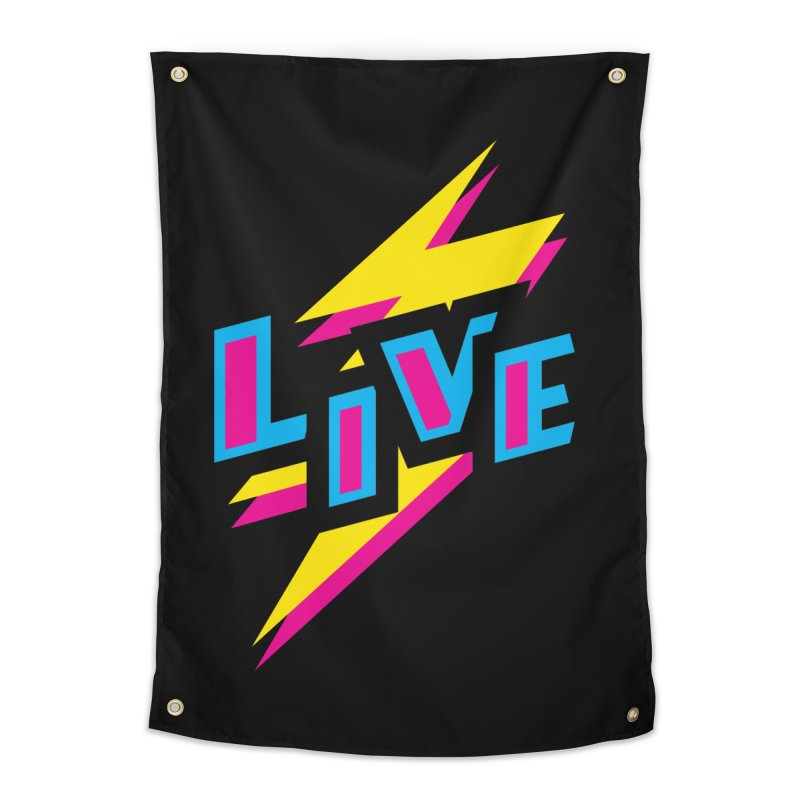 LIVE Home Tapestry by Rocket Artist Shop