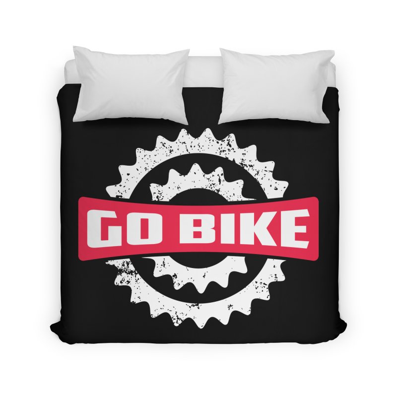 GO BIKE Home Duvet by Rocket Artist Shop