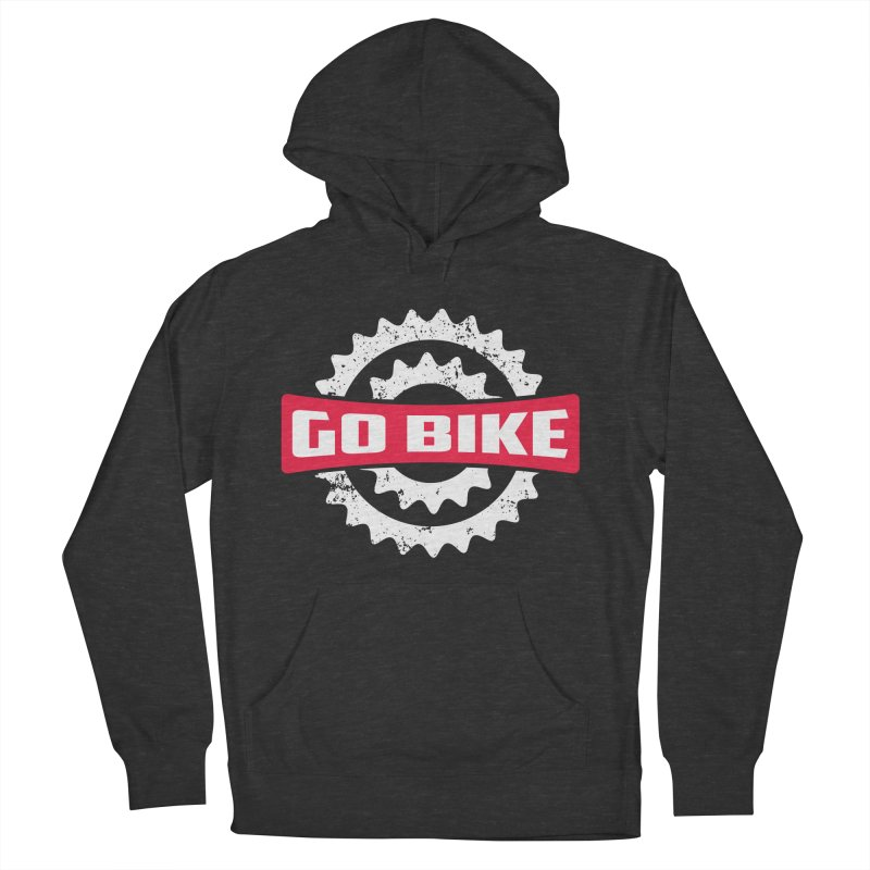 GO BIKE Women's French Terry Pullover Hoody by Rocket Artist Shop