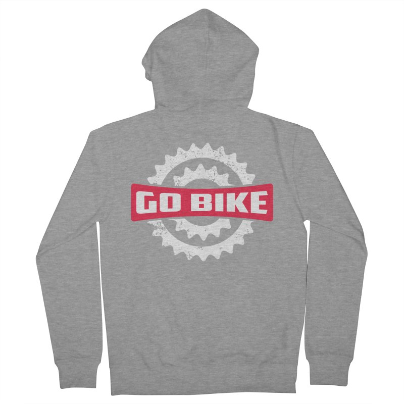 GO BIKE Men's Zip-Up Hoody by Rocket Artist Shop