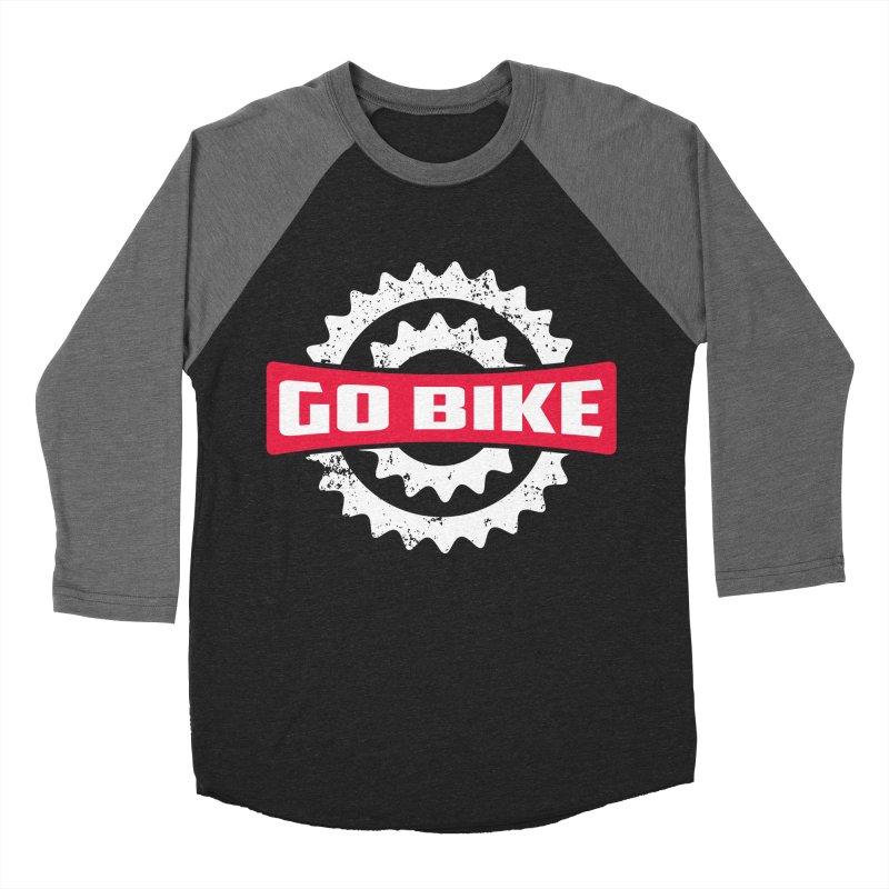 GO BIKE Men's Baseball Triblend Longsleeve T-Shirt by Rocket Artist Shop
