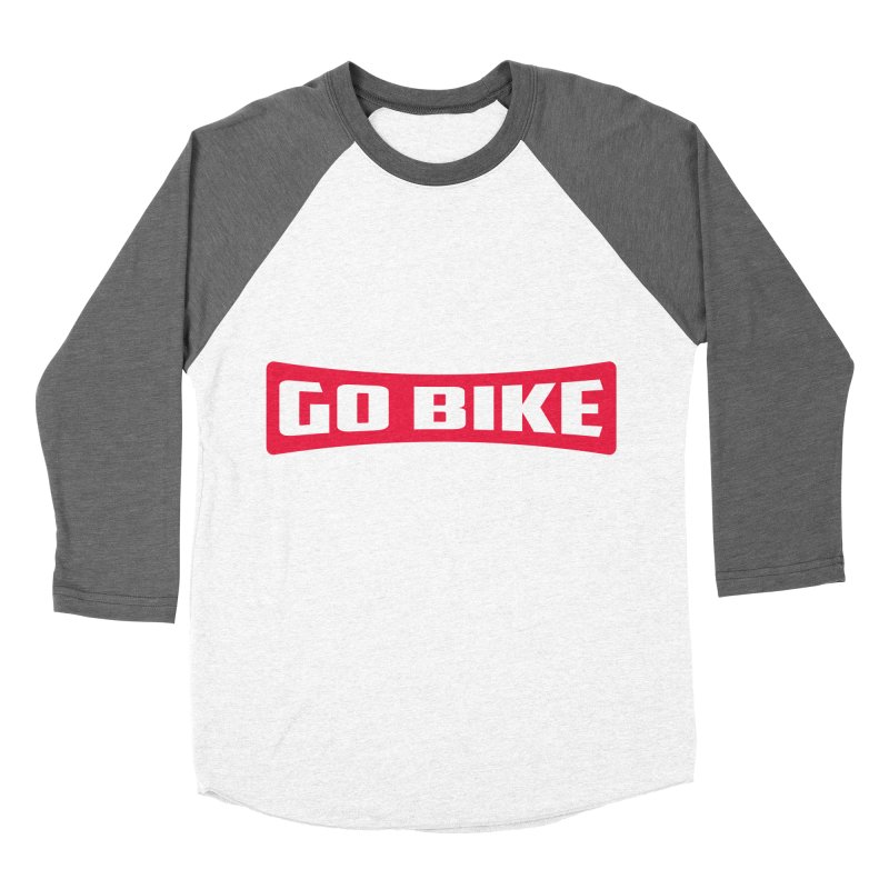 GO BIKE Men's Baseball Triblend Longsleeve T-Shirt by Rocket Artist Shop