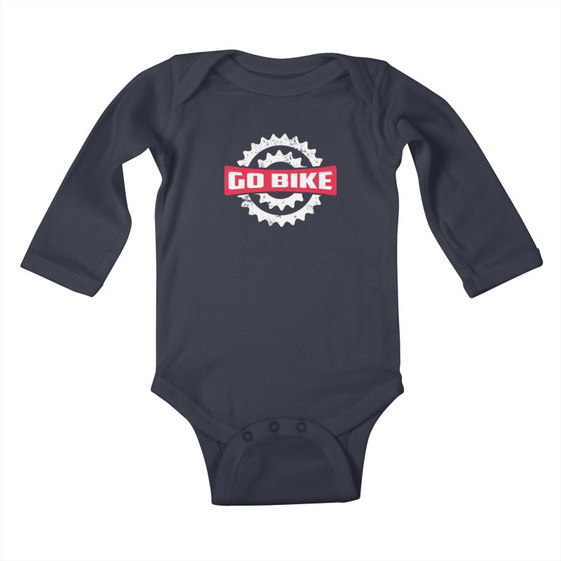 GO BIKE Kids Baby Longsleeve Bodysuit by Rocket Artist Shop
