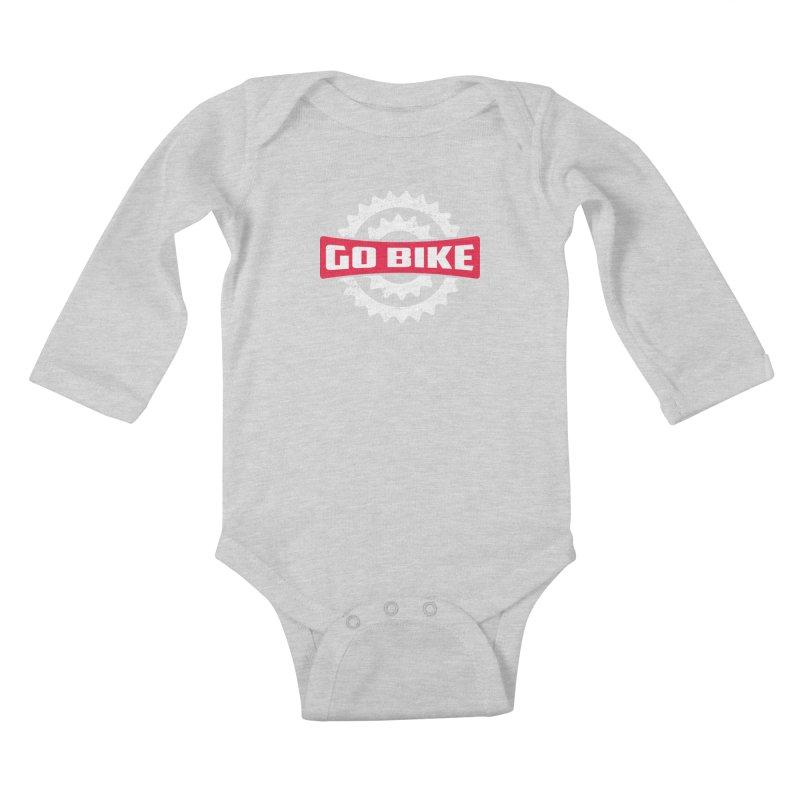 GO BIKE Kids Baby Longsleeve Bodysuit by Rocket Artist Shop
