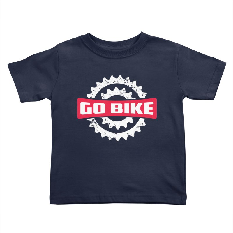 GO BIKE Kids Toddler T-Shirt by Rocket Artist Shop