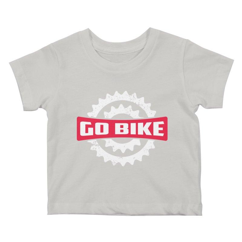 GO BIKE Kids Baby T-Shirt by Rocket Artist Shop