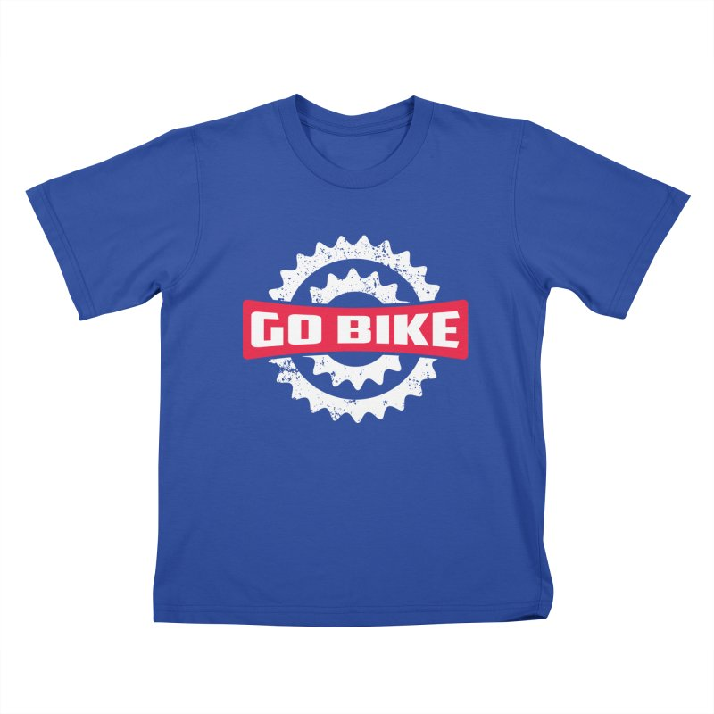 GO BIKE Kids T-Shirt by Rocket Artist Shop
