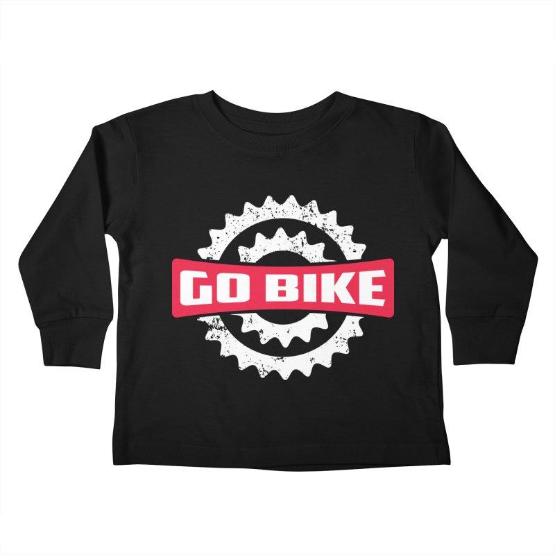 GO BIKE Kids Toddler Longsleeve T-Shirt by Rocket Artist Shop