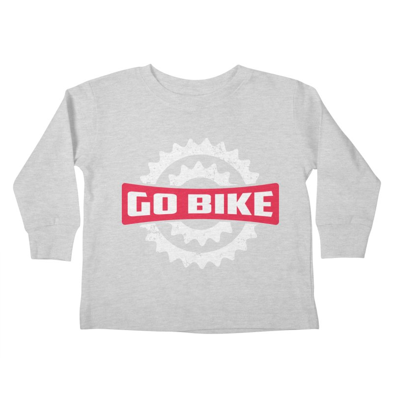 GO BIKE Kids Toddler Longsleeve T-Shirt by Rocket Artist Shop