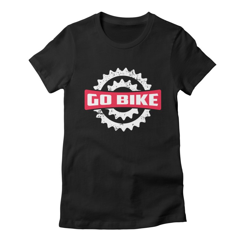 GO BIKE Women's Fitted T-Shirt by Rocket Artist Shop