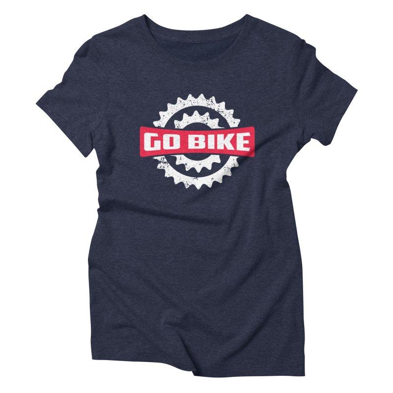 GO BIKE Women's Triblend T-shirt by Rocket Artist Shop