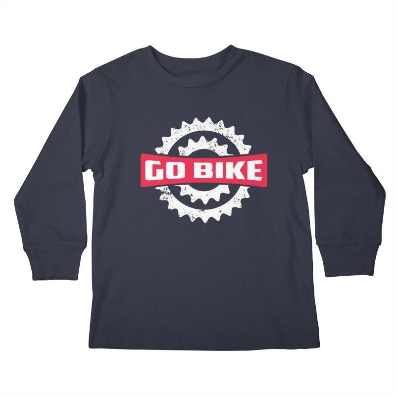 GO BIKE Kids Longsleeve T-Shirt by Rocket Artist Shop