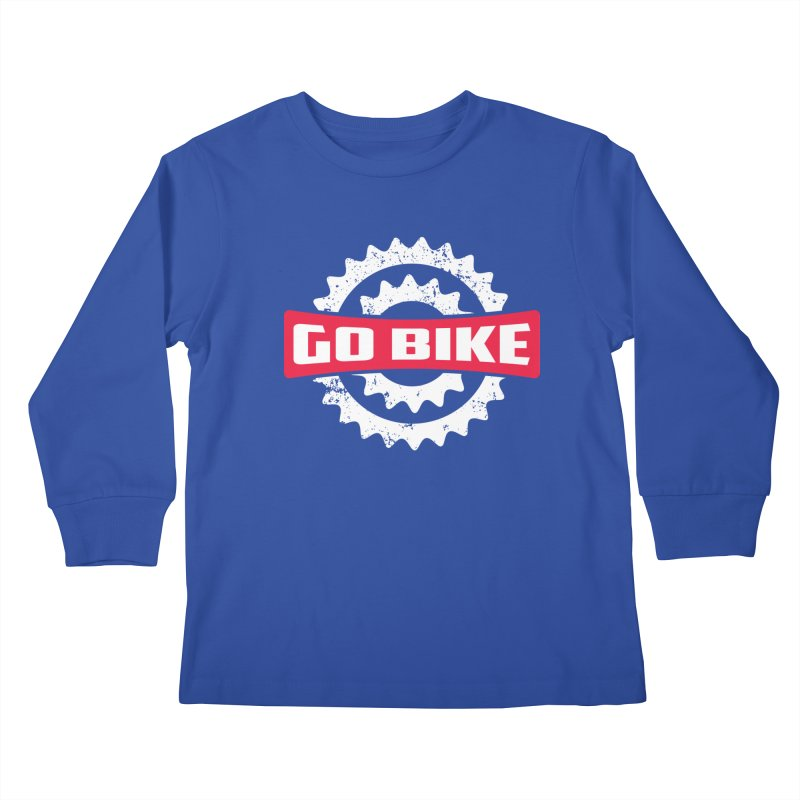 GO BIKE Kids Longsleeve T-Shirt by Rocket Artist Shop
