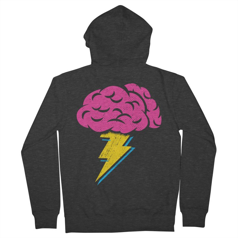 Brainstorm Men's Zip-Up Hoody by Rocket Artist Shop