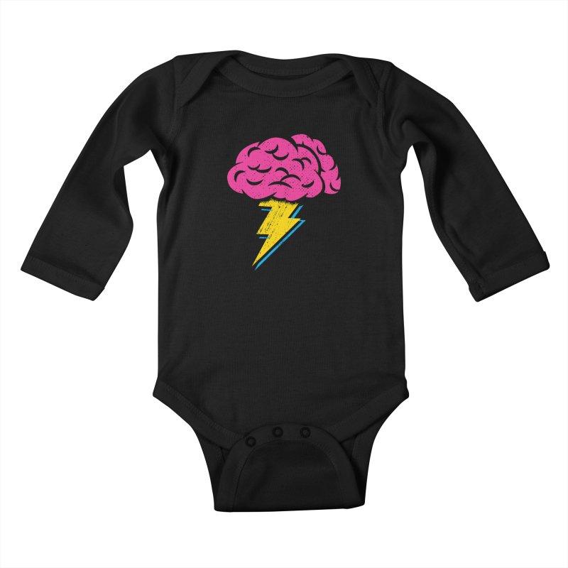 Brainstorm Kids Baby Longsleeve Bodysuit by Rocket Artist Shop