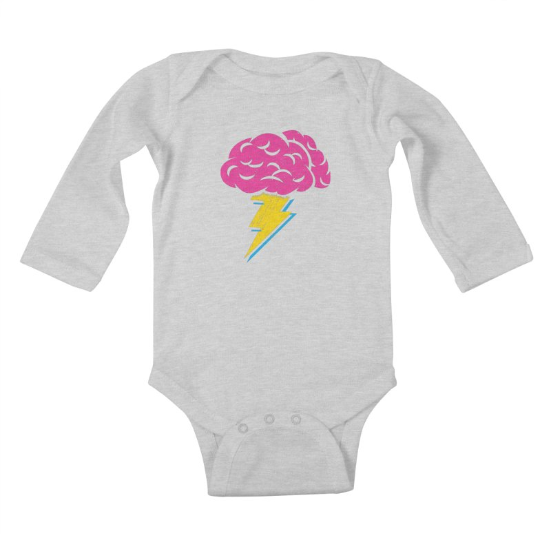 Brainstorm Kids Baby Longsleeve Bodysuit by Rocket Artist Shop