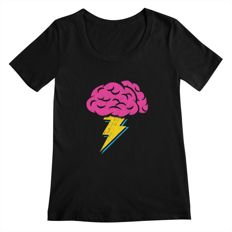 Brainstorm Women's Scoopneck by Rocket Artist Shop