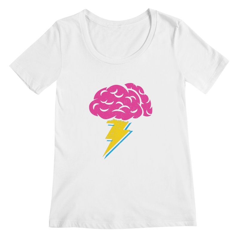 Brainstorm Women's Scoopneck by Rocket Artist Shop